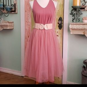 5 layer tulle skirt in Dusty rose